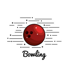 symbol bowling play icon vector image