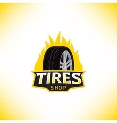 Template of tires shop logo vector