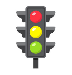 traffic light flat icon stoplight and navigation vector image