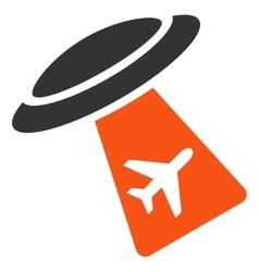 Ufo Abduct Plane Icon vector