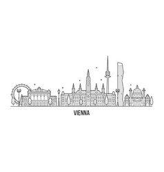 vienna skyline austria big city building vector image
