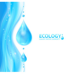 Water drops ecology background vector image