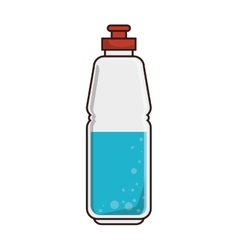 Water sport bottle vector