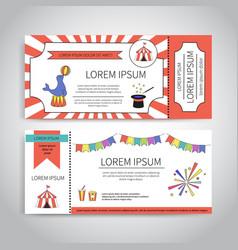 circus tickets design vector image vector image