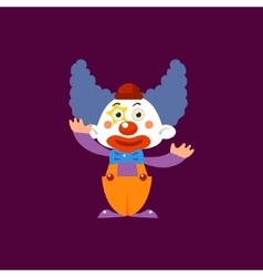 Clown Greeting Simplified Isolated vector image