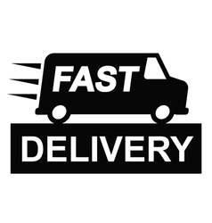 Fast delivery truck vector