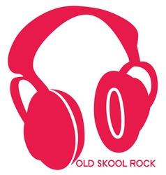 Old Skool Headphones vector image vector image