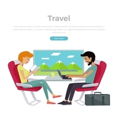 Train Travel Concept Web Banner vector image vector image