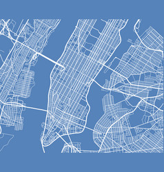 Aerial view usa new york city street map vector