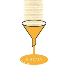 Big data analysis filter funnel vector