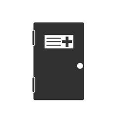 Black icon on white background doctors door vector