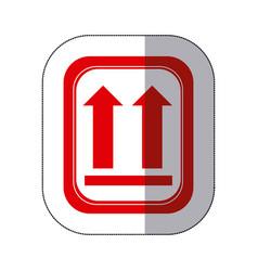 color sides up emblem icon vector image