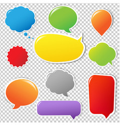 colorful label set vector image vector image