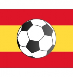flag of Spain and soccer ball vector image vector image