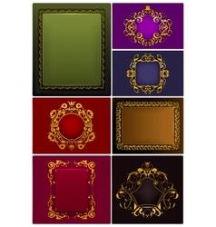 Frames Vintage set vector image vector image