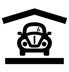 Home garage icon vector image vector image