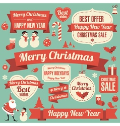 New Year design element set vector image vector image