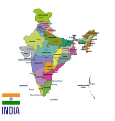 political map of india vector image vector image