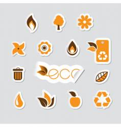 set of ecology icon vector image vector image