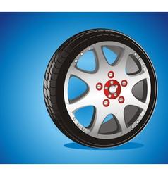 alloy wheel vector image vector image