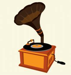 antique record player vector image vector image