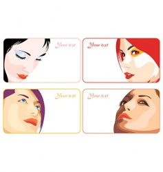 beauty business cards vector image