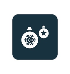 Christmas Decorations icon Rounded squares button vector image vector image