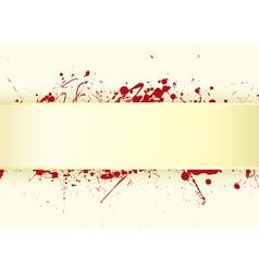 grunge inspired blood splat vector image vector image