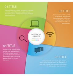 Infographics circle paper vector image