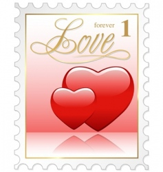 love stamp vector image
