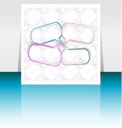 brochure cover design template Vintage vector image vector image