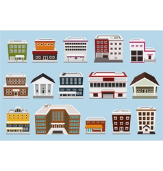 building collection vector image vector image