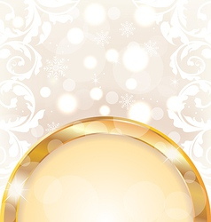 Christmas glowing background holiday design vector image