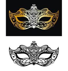 Golden Carnival Mask vector image