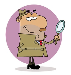 Hispanic Cartoon Investigator Man vector image