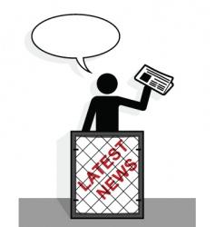 newspaper vender vector image
