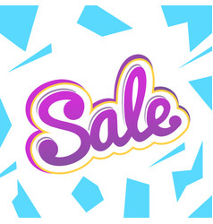 A colour banner for advertising sales bright vector