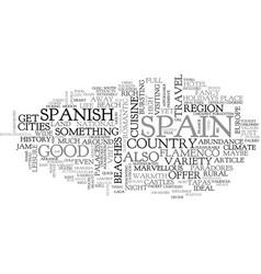 A quick tour of spain text word cloud concept vector