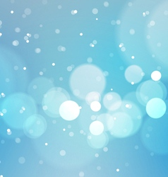 Abstract Bokeh Lights Blue Background vector image