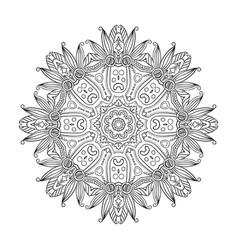 abstract hand-drawn mandala-04 vector image