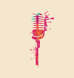Abstract musical image a bright microphone vector