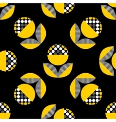 Abstract seamless pattern with black and yellow vector
