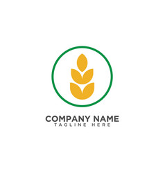 Agriculture wheat logo template icon design vector