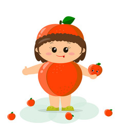 baby in a peach suit vector image