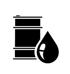barrel oil icon flat vector image