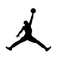 basketball player the black color icon vector image