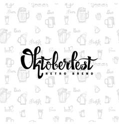 Beer fest oktoberfest on seamless pattern of vector