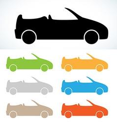 Cabriolet silhouette vector