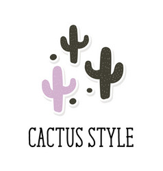 Cactus style background pattern cute vector