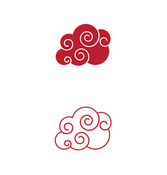 chinese cloud template icon vector image